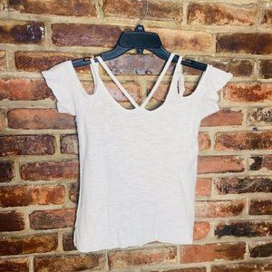 American Eagle Cold Shoulder Knit Top Size XS
